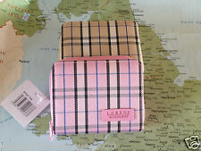 ladies purse checked pink or beiges lorenz looks good in any hand bag
