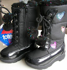 Girls Toddler Winter Boots by: Totes Waterproof Warm & Cute Hearts and Sparkles