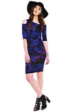 MeeMee figa shoulder less purple body con party dress
