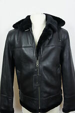New B3 Men Real Shearling Leather Sheepskin Bomber Aviator Flying Jacket S-8XL