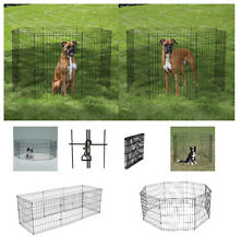 """LARGE AFFORDABLE Exercise Pens for Dogs & Pets 42"""" Black Wire Ex Pen Play Yard"""