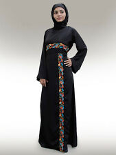 Ahalam Black Abaya AY150 Jilbab/Hijab/Burka/ Islamic Clothing/ Muslim Wear Dress