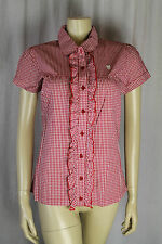 Fenchurch Ladies Red/White Check Short Sleeve Shirt Size XS & S  (4BD)