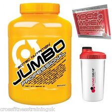 Scitec Nutrition JUMBO PROFESSIONAL fast&slow carbs protein bcaa,s aakg vitargo