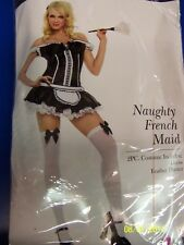 Naughty French Maid Chamber Upstairs Fancy Dress Up Halloween Sexy Adult Costume