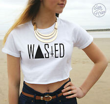 *WASTED YOUTH Crop Top T-shirt Hipster Fresh Swag Blogger Tumblr Fashion Grunge*
