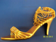 CLEOPATRA Shoes Gold Egyptian Sandal Dress Up Halloween Adult Costume Accessory