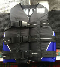 New Yamaha PFD Life Vest  Extra Small Unisex 3 Buckle Silver Vest