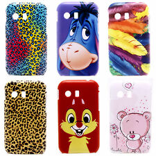 Lovely Bear Leopard Image Hard Back Shell Case Cover for Samsung Galaxy Y S5360