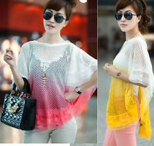 Women's Lace Crochet Knit Blouse Sweet Coat Sweater Fit for Summer/Spring/Autumn