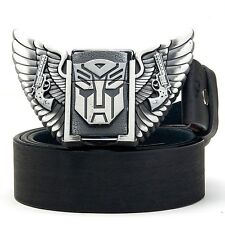 New Transformers Autobot  Wing Superhero Lighter Leather Mens Metal Belt Buckle