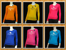 Abercrombie & Fitch Women's Long Sleeve T-Shirt Multi Colors NWT