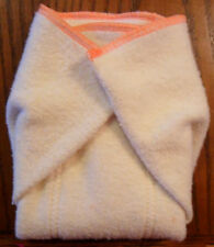 New Hemp Organic Cotton Fleece Prefold  (10 x 13) cloth diapers Orange Trim