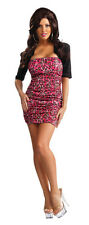 Snooki Jersey Shore Nicole Polizzi Pink Leopard Dress Up Halloween Adult Costume