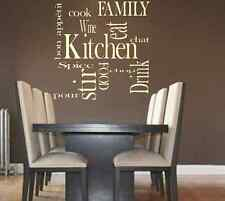 Kitchen Words Family Love Vinyl Wall Art Quote Decal Sticker Transfer Living