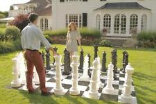 Mega Chess Set - 90cm Tall Giant Outdoor Chess Pieces - Ideal Garden Set