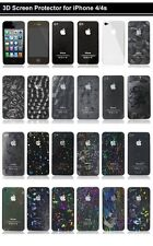 26 Style - 3D Crystal Bling Screen Protector Sticker Film Guard for iPhone 4 4s