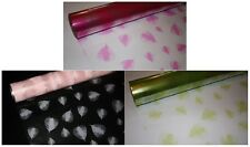 10m x 80cm LEAF clear / tinted cellophane CHOOSE COLOUR gift wrapping packaging