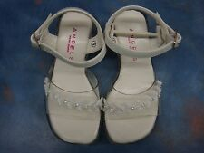 NEW Girl White Dressy Sandals/Shoes/Wedding/Party/Toddler,5-13 SALE Acrylic Hil