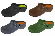 MENS COOLERS GARDEN WORK KITCHEN HOBBY BEACH MULES CLOGS SHOES WETLANDS FAB120