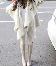 DRAMATICALLY DRAPED FAUX SHEARLING JACKET FAUX COAT PERFECT FOR ANY FASHIONISTA!