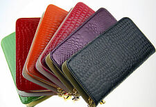 Hot selling women Patent leather wallets fashion zipper purse ladies handbag