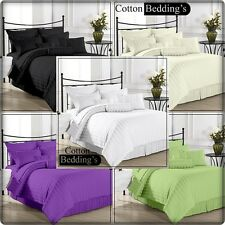 "Super Silk 15 Color US Size Bedding ""4pc Sheet Set"" 1000TC 100% Cotton in Stripe"