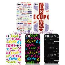 Ultra Light Word of LOVE KISS ME Letter Alphabet Pattern PC Case For iPhone 4 4S