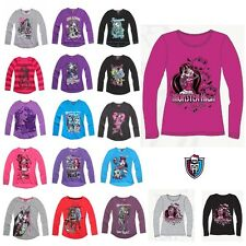 New Official Girls MONSTER HIGH Long Sleeve Tee T Shirt Top age 8-14 years