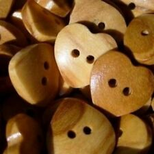 BEAUTIFUL HEART REAL NATURAL OLIVE WOOD ITALIAN BUTTONS 12-15-19mm-cuore