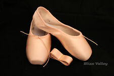 Pink Satin Ballet Pointe Shoes-New-Lots of Sizes – sz 6 7 7.5 8 8.5 9 9.5