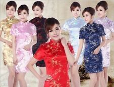 2013 Chinese Style Women's Satin Plum Blossom Dress/Cheongsam Size:S-6XL