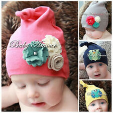 Baby Kid Children Cute cotton floral Owl Boy Girl Beanie Hat Cap 7mths-2.5yrs