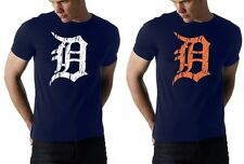 old english D detroit tigers - american apparel tank or tee