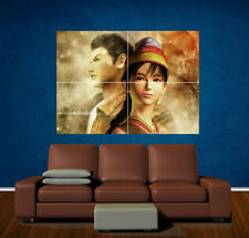 SHENMUE LARGE POSTER ART PRINT LAMINATED - 2 Shen mue dreamcast xbox guide