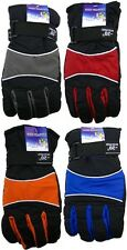 BOYS TEEN Ski Gloves Waterproof Insulated -20 degrees adjustable straps BNWT