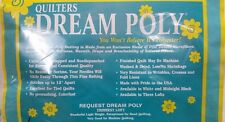 Quilters Dream Poly Quilt Batting-Three Lofts-All Sizes-Choose your loft & size