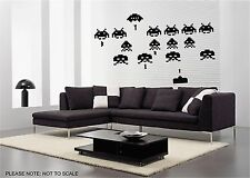 CLASSIC RETRO INVADERS - WALL ART STICKER DECAL