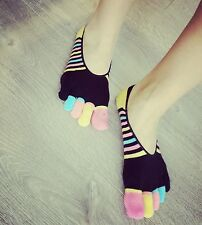 Colorful toe socks no show unisex running fitness FIT UP TO WOMEN SHOE SIZE  8