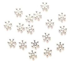 100/200 Premium Quality Bright Silver Snowflake Spacer Beads ♥ 6mm ♥ lady-muck1