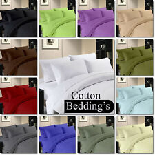 "Super Soft  ""Cal-King Size"" Hotel US Bedding Collection 1000TC 100% Cotton Solid"