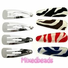 "*U PICK* 30-40 Set Zebra Animal Print Cover 2 1/8"" fabric 55mm+Hair Clip 1 3/4"""