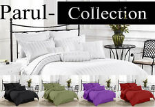 Spical Sale New Black Bedding Collection 1000TC 100% Cotton Solid/Striped For UK