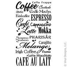 COFFEE KITCHEN QUOTE VINYL WALL DECAL STICKER ART-REMOVABLE WORDS HOME DECOR