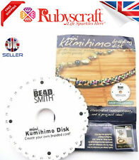 KUMIHIMO - BEADSMITH BRAIDING DISK Choose Square or Round PLUS INSTRUCTIONS