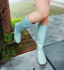 Fashion womens Wellies Patent Leather Rain Boots galoshes Knee-High size35-39