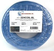 SCP Blue 22 GA Gauge AWG 4 Conductor Stranded Copper Alarm Wire Security Cable