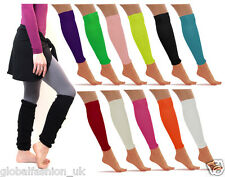 WOMENS LADIES GIRLS PLAIN  KNEE SOCKS LEG WARMERS WINTER FANCY DRESS ACCESSORY