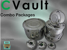 CVault Combo Pkgs Herbal Metal Humidity Control Stash Storage Airtight Container