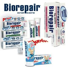 Biorepair® the toothpaste that actually repairs tooth enamel; four versions: